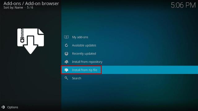Step 11 Install Slamious Kodi Build