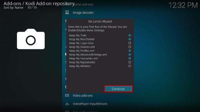 Step 15 Install No Limits Magic Kodi Build