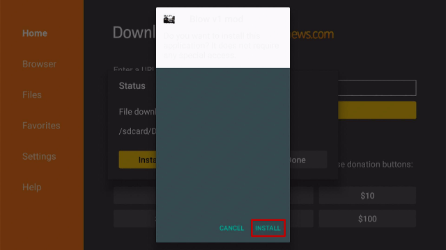 Step 16 Install the Blow TV App on Firestick