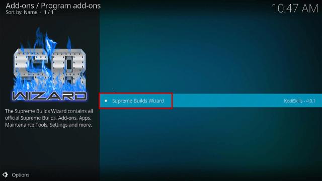 Step 17 Install Titanium Kodi Build