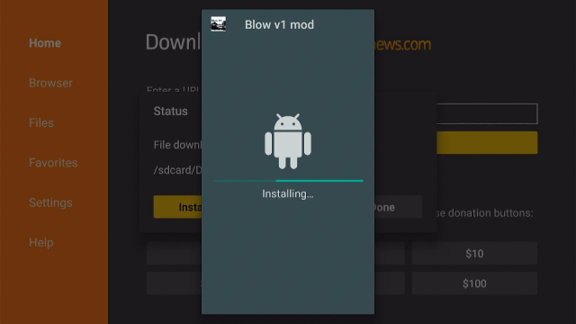 Step 17 Install the Blow TV App on Firestick