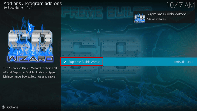 Step 19 Install Titanium Kodi Build