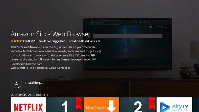 Silk Browser Installation Guide on Firestick Step 7
