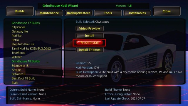 Install Cityscapes Kodi Build 27