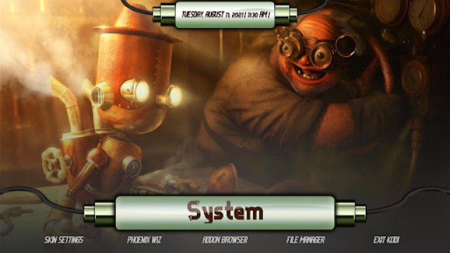 Install SteamPunk Kodi Build 35