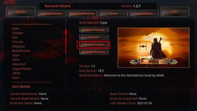 Install Topix Kodi Build 27