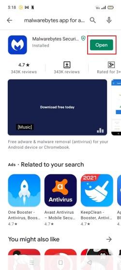 Malwarebytes Android 8