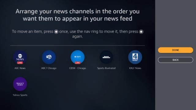 Organize channels