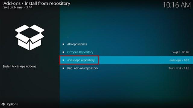 Install ApeX Sports Kodi Addon 16