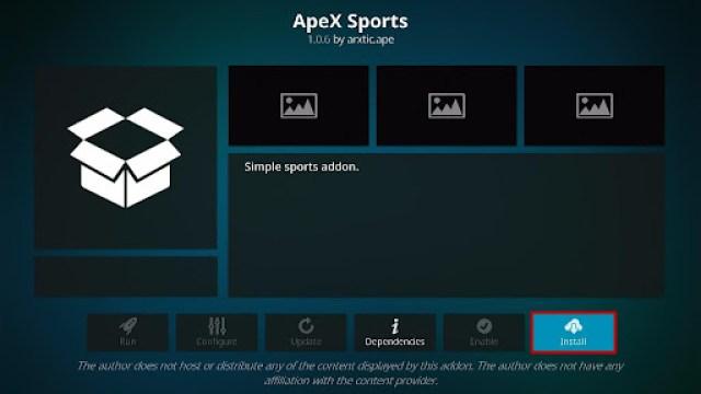 Install ApeX Sports Kodi Addon 19