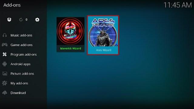 Install Ares Wizard Kodi Addon 16