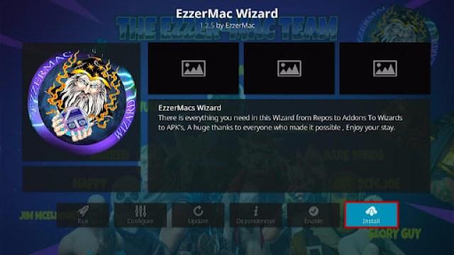 Install EzzerMacs Build on Kodi 19