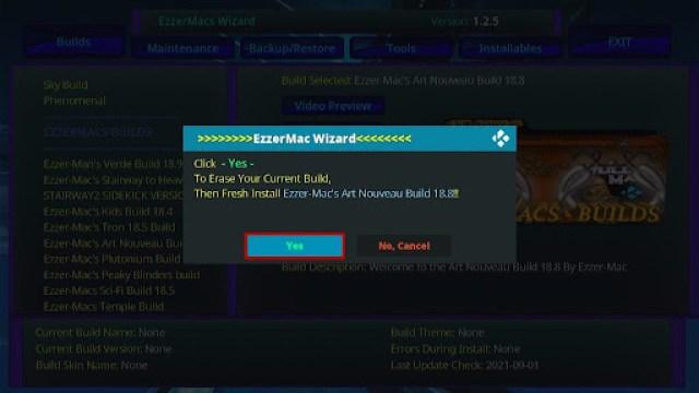 Install EzzerMacs Build on Kodi 29