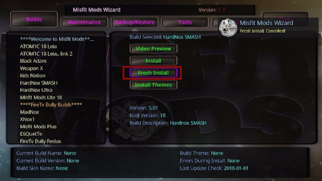 Install HardNox SMASH Kodi Build 26