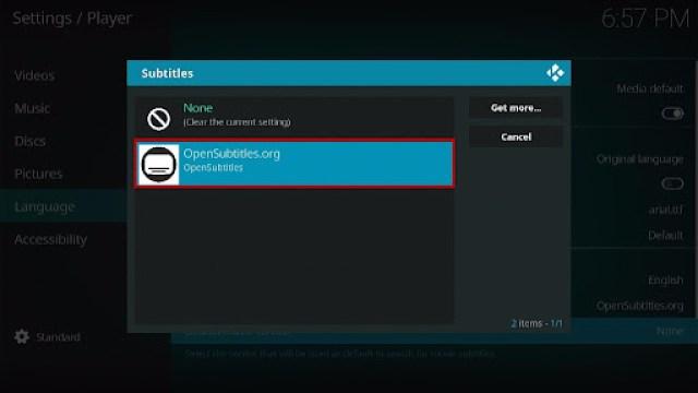 Install the Opensubtitles on your Kodi 17