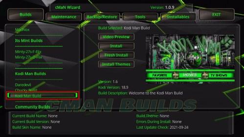 Kodi Man Build 26