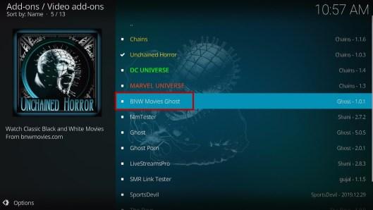 Install BNW Movies Ghost Kodi Addon 18