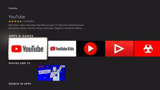 Install YouTube TV App on your Fire TV stick step 5