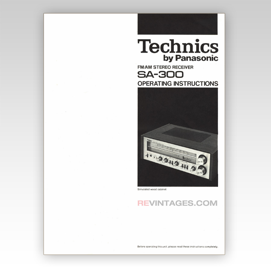 hight resolution of technics sa 300 stereo receiver manual english revintages home technics sa 300 stereo receiver