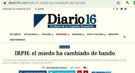 Diario16 se hace eco de un procedimiento dirigido por RevisamoTUhipoteca.com