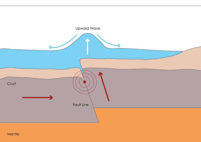 tsunami diagram with labels switch wiring australia causes characteristics of tsunamis revisegeo