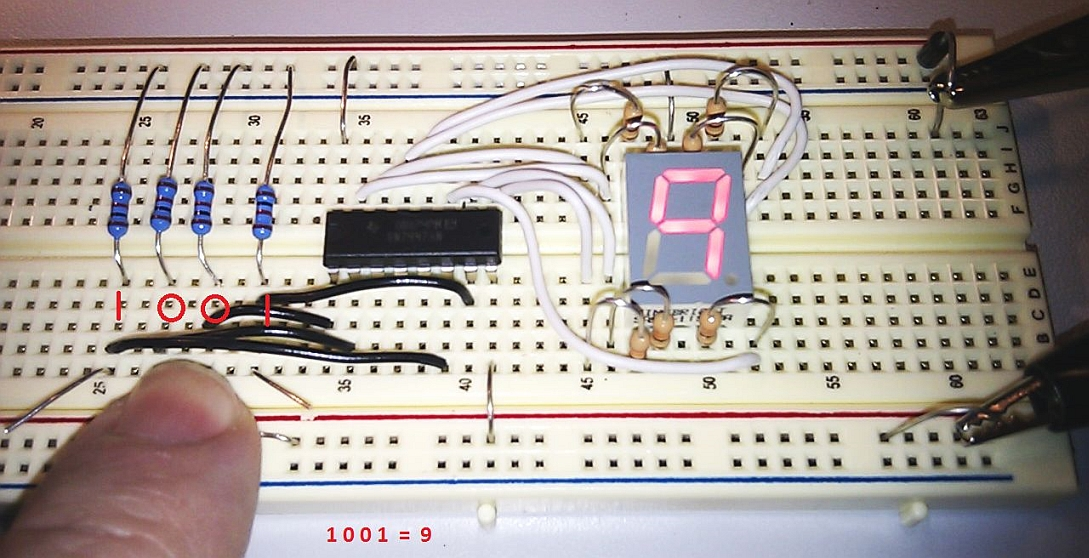 Bcd Binary Number Convert Circuit Diagram Addaconvertercircuit