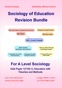 sociology education revision