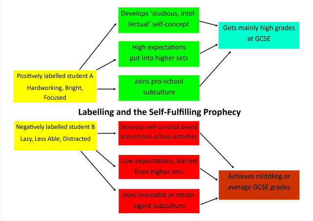 Teacher Labelling And The Self Fulfilling Prophecy Class Notes
