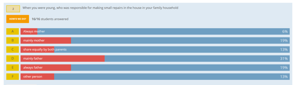 Housework survey 2018 DIY