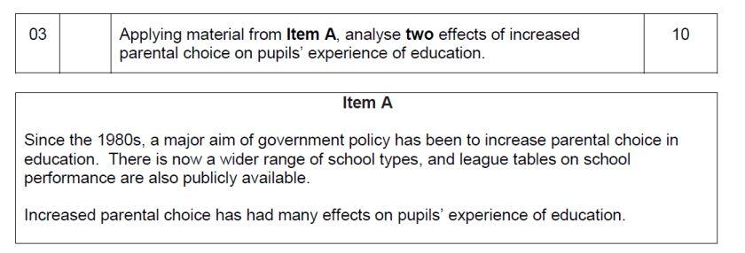 A-level-sociology-10-mark-question-parental-choice