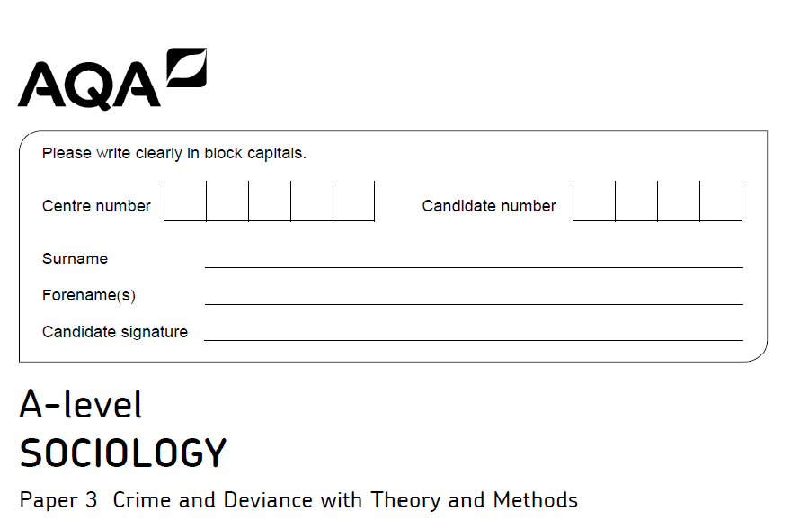 AQA A-level sociology exam advice 2018: how to answer 4 and 6 mark 'outline questions' (crime and deviance, 2)