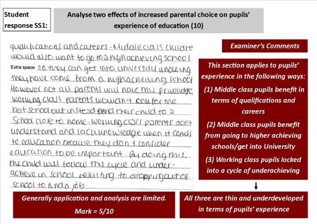 aqa sociology 10 mark question marked exemplar