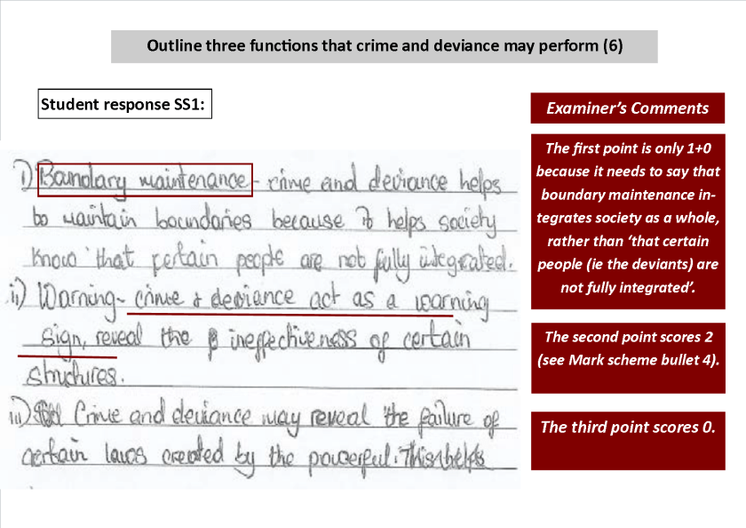 outline explain three functions crime.png