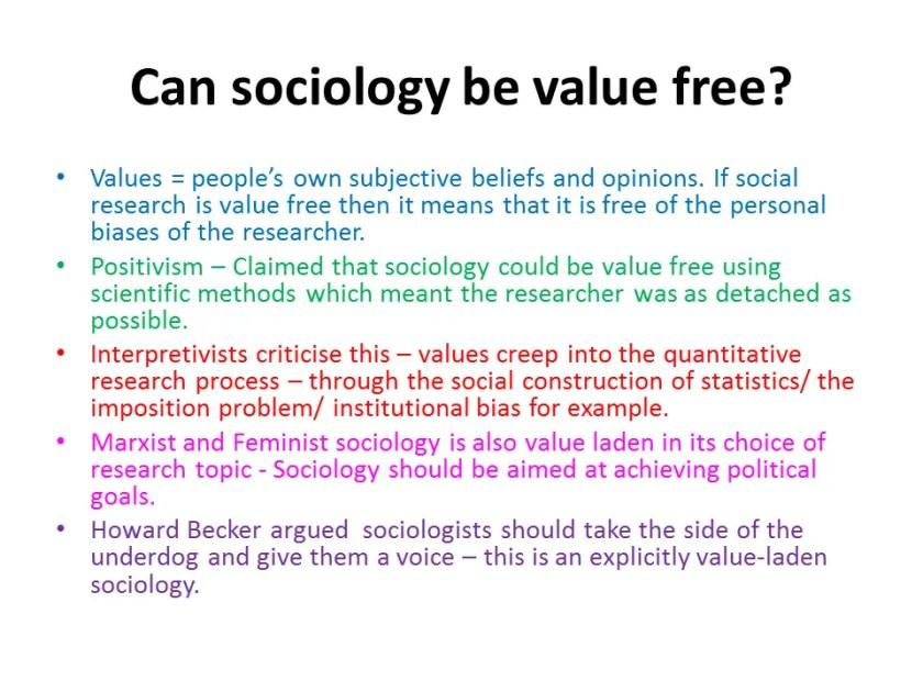 sociology value freedom