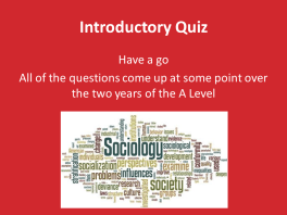 An Introductory Session for A-Level Sociology