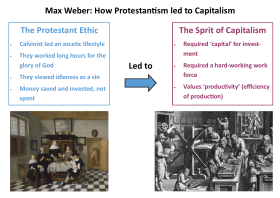 Max Weber: The Protestant Ethic and the Spirit of Capitalism (Revision Notes)