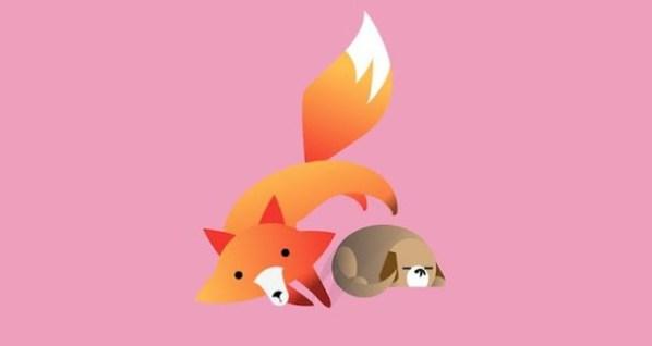 Быстрая коричневая лиса прыгает через ленивую собаку