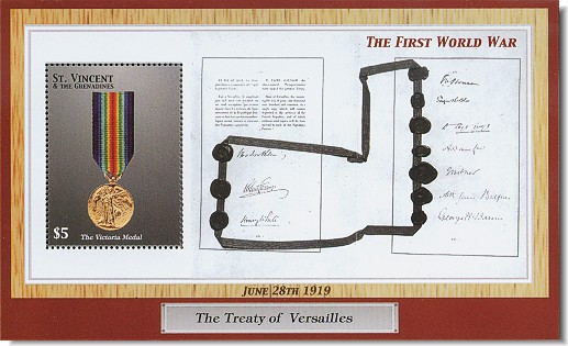 The treaty of Versailles.