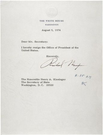 Nixon's Resignation Letter is an example of a formal letter. Image by Wikipedia.