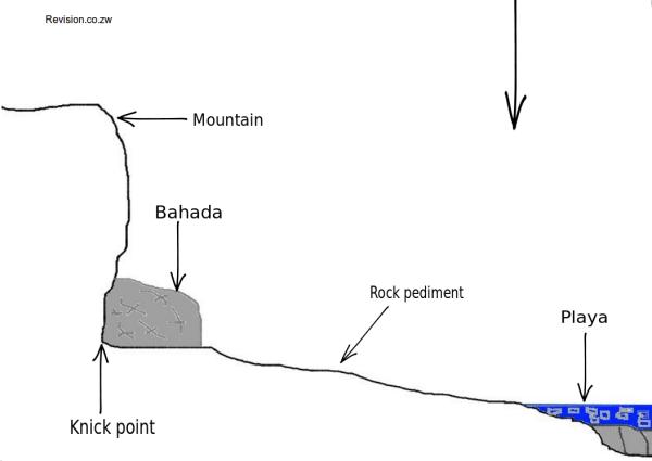 The desert peidmont zone.