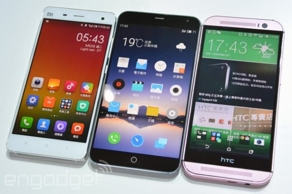 Examples of modern day cellphones. Image credit egadget.com