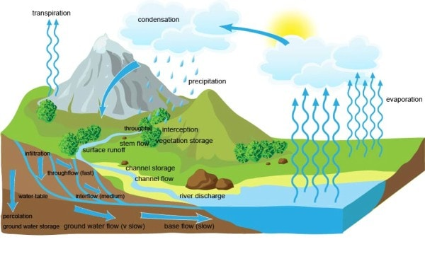 The hydrological cycle. Image credit BBC