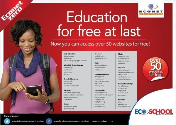 Informative advert. Image credit econet.co.zw