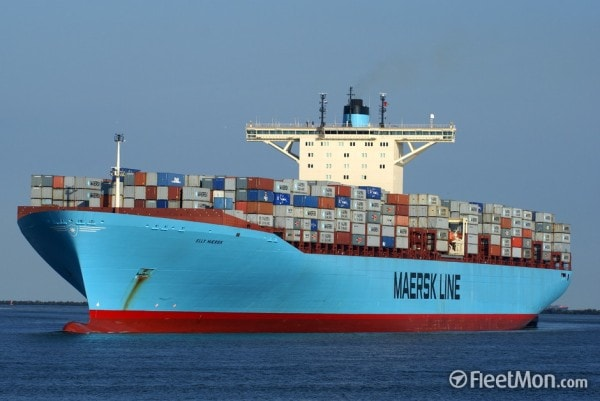 Maersk Container ship. Image credit fleetmon.com