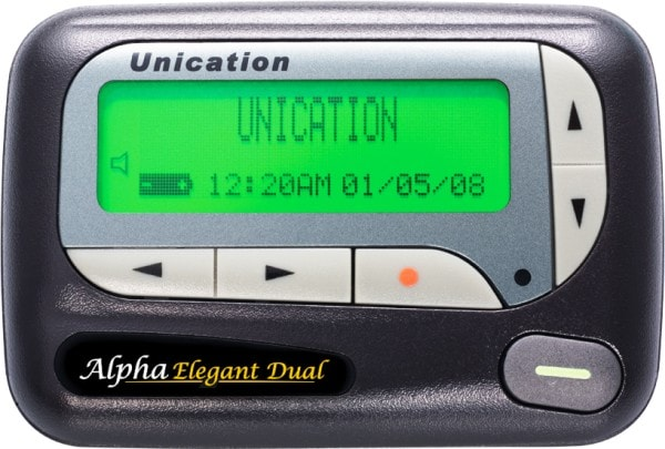 A radio pager. Image credit MediaWiki