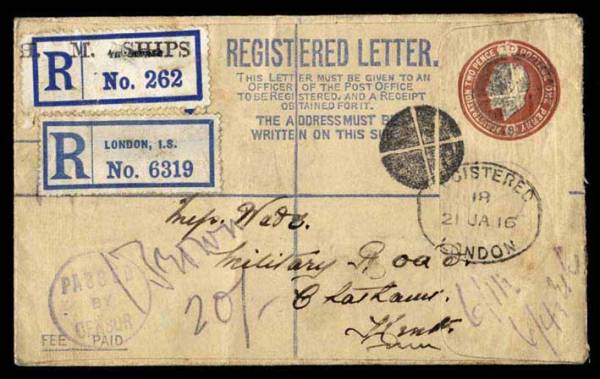 Registered mail. Image credit grosvenorauctions.com