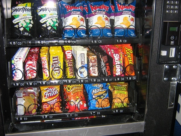 A vending Machine. Image credit wellnessworkhub.com