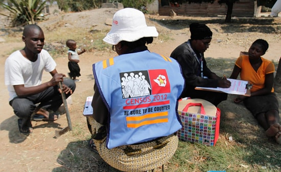 A census official conducting a census in2012. Image credit newzimbabwe.com