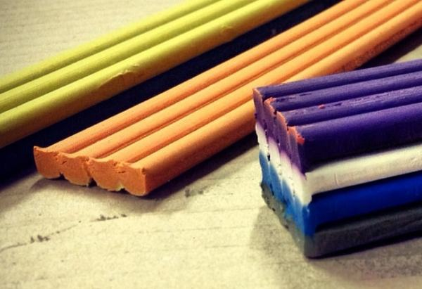 Plasticine can be used to model cylinder beams. Image credit wordpress.com