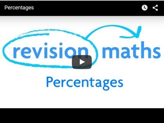 percentages mathematics gcse revision